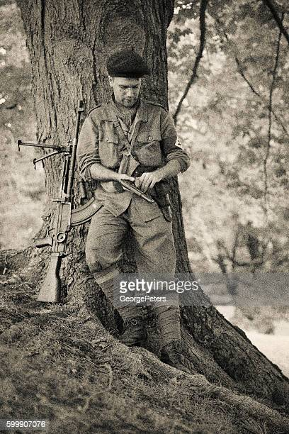French Resistance Soldier Young Man