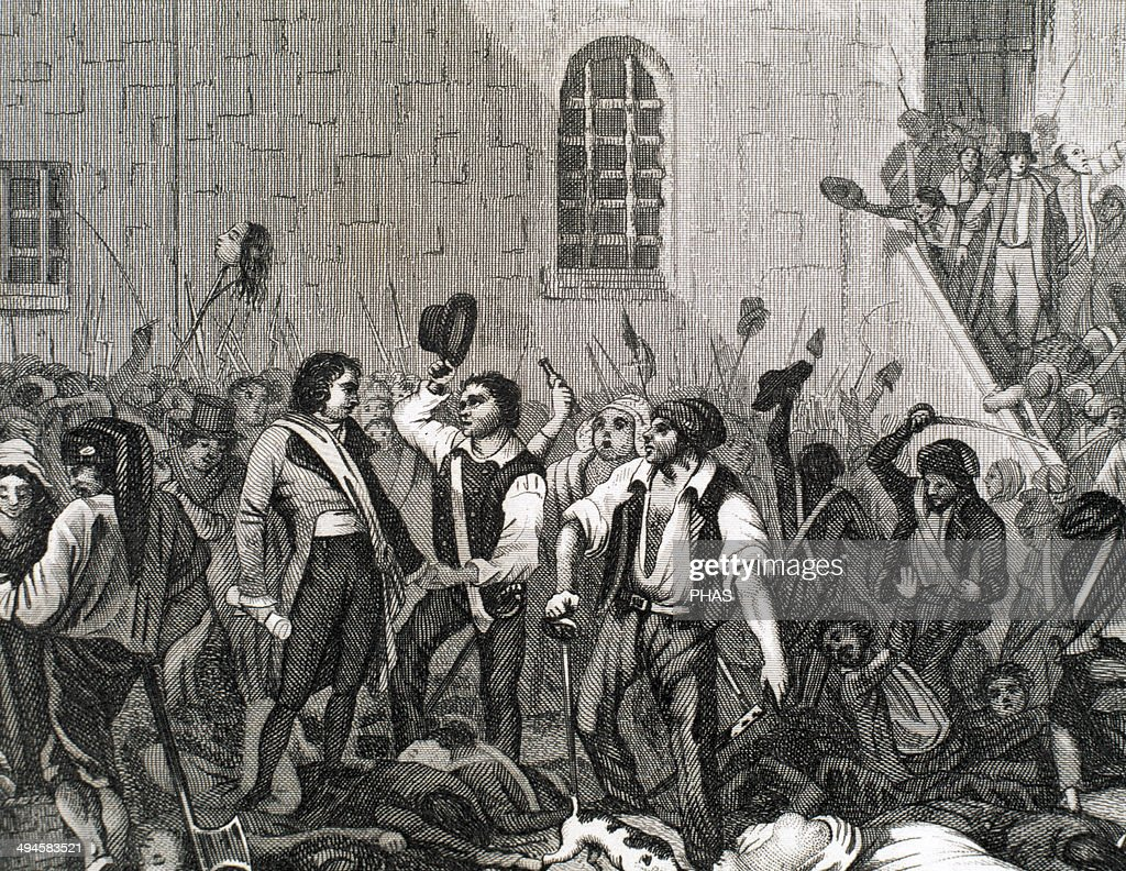 french revolution stock photos and pictures getty images french revolution execution of clerics and prisoners by members of the paris commune 1792 engraving