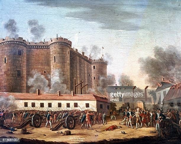 French Revolution The Storming of the Bastille July 14 1789 Oil on canvas 18th century Carnavalet Museum Paris France