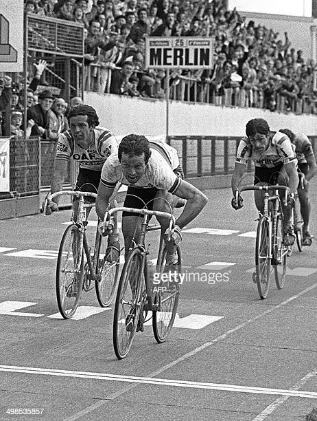 French rider Bernard Hinault won the sprint on April 12 the 79th edition of the classic ParisRoubaix before the Belgian Roger De Vlaeminck The...