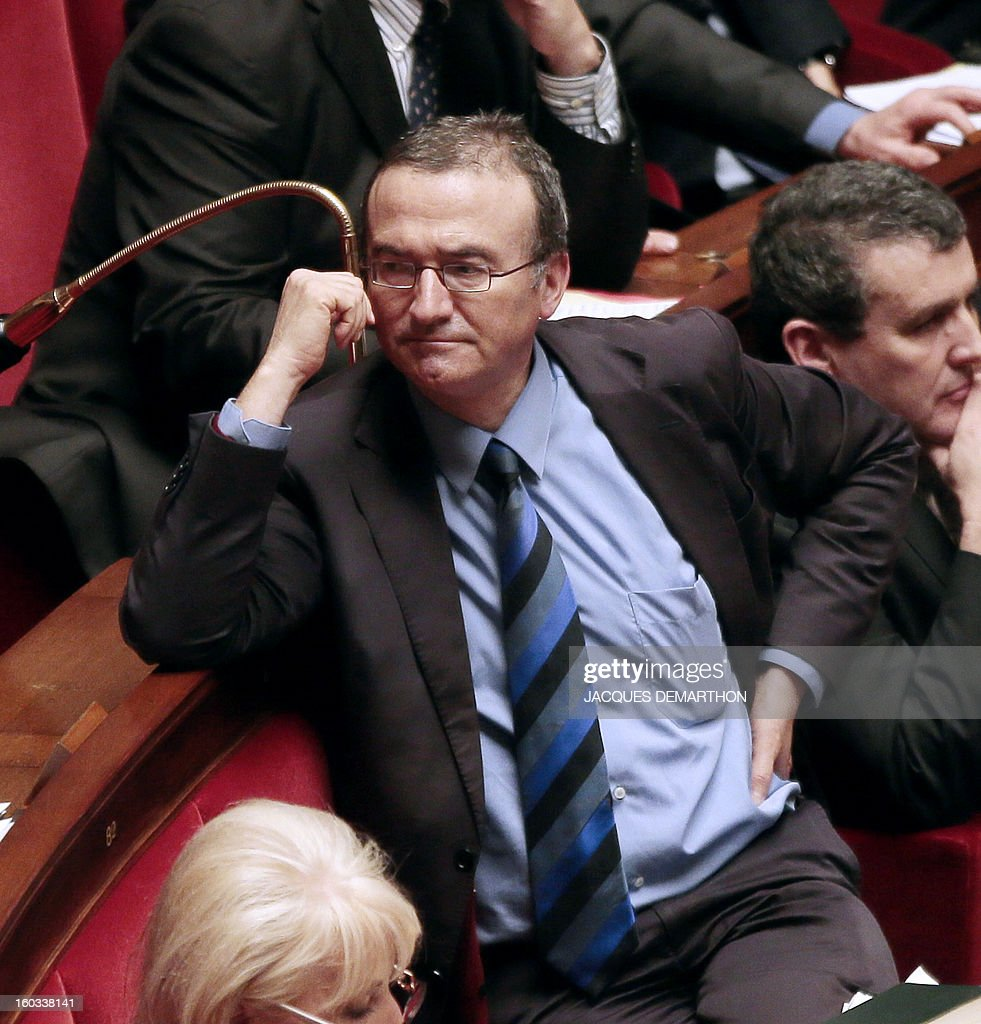 French right wing opposition party (UMP) MP Herve Mariton attends a debate on legalising same-sex marriage at the National Assembly on January 29, 2013 in Paris. France's parliament began examining draft legislation on same-sex marriage after months of rancorous debate and huge street protests by both supporters and opponents.