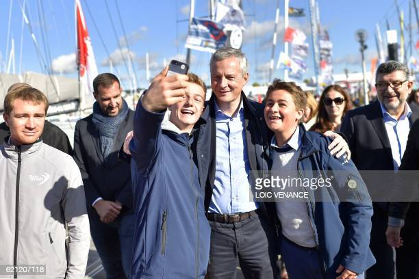 French rightwing Les Republicains MP and candidate for the LR party primaries ahead of the 2017 presidential election Bruno Le Maire poses with...