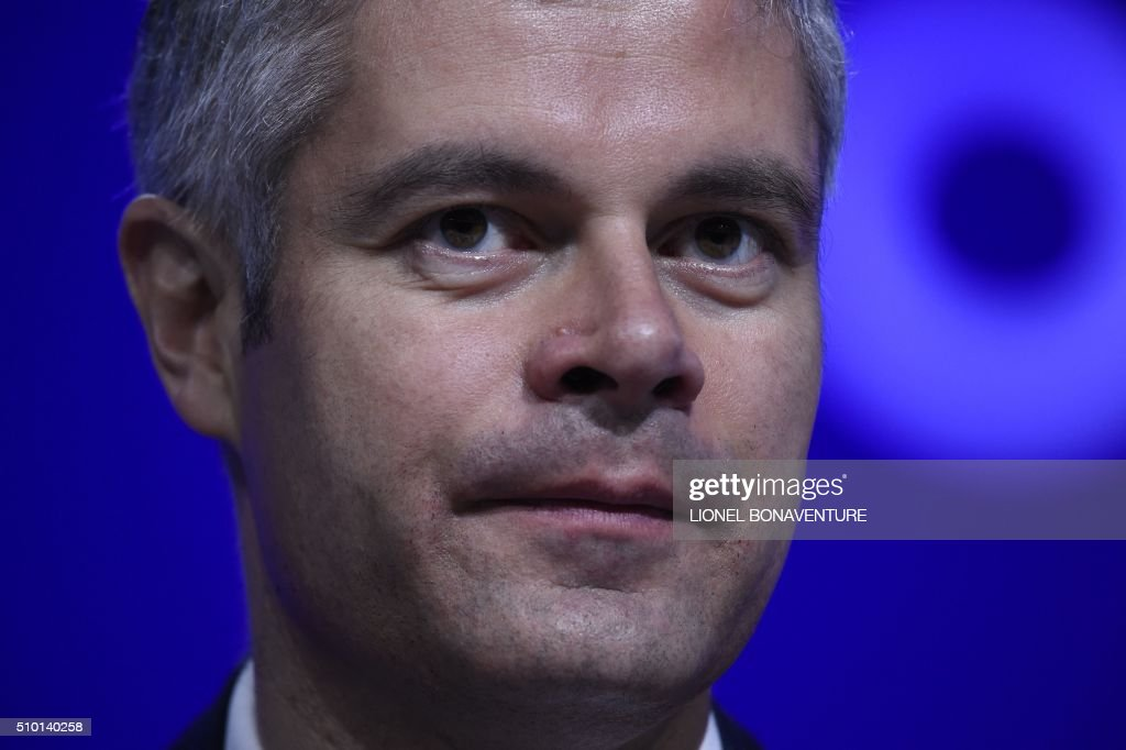 French right-wing Les Republicains (LR) party delegate Vice-President, Laurent Wauquiez attends the LR National Council on February 14, 2016 in Paris. AFP PHOTO / LIONEL BONAVENTURE / AFP / LIONEL BONAVENTURE