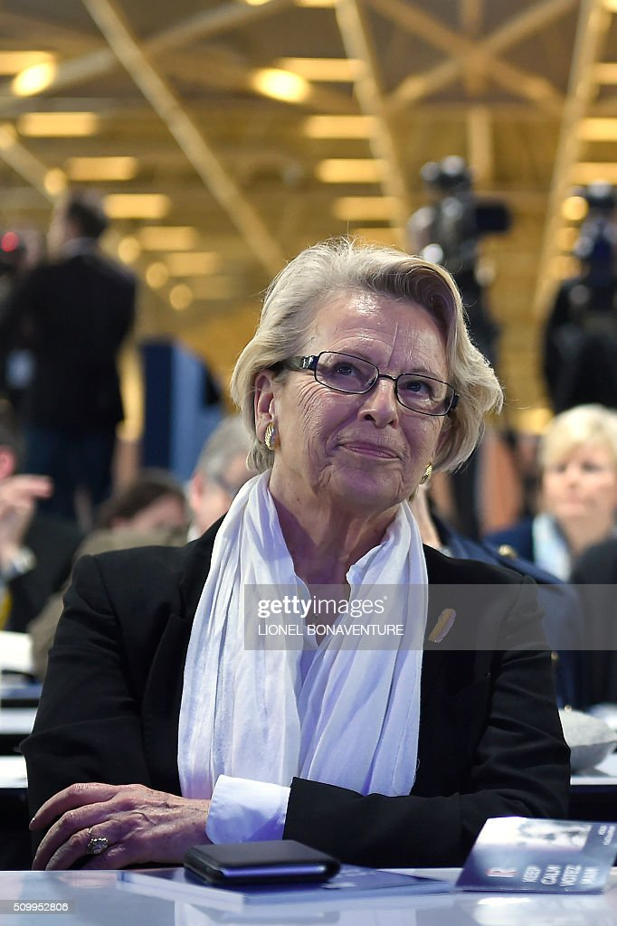 French right-wing Les Republicains (LR) party member and former French Foreign Minister Michele Alliot-Marie attends the LR National Council on February 13, 2016 in Paris. AFP PHOTO / LIONEL BONAVENTURE / AFP / LIONEL BONAVENTURE