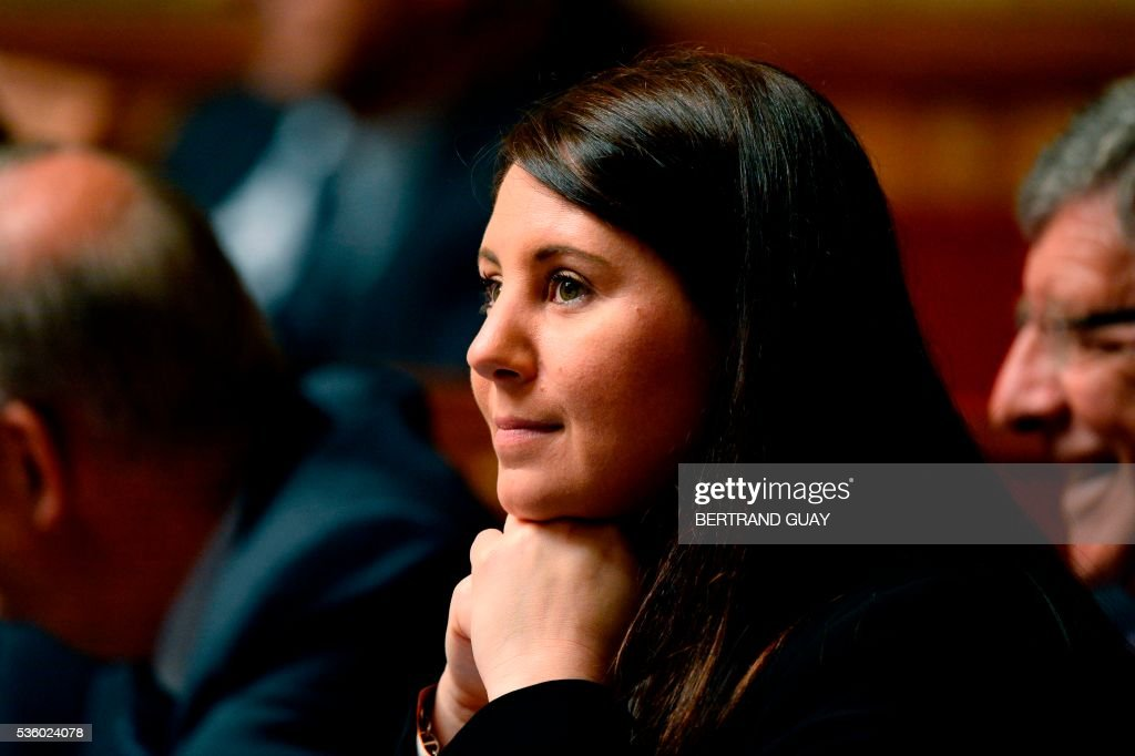 French right-wing Les Republicains (LR) party member of Parliament Marine Brenier attends a session of questions to the Government at the French National Assembly in Paris, on May 31, 2016.