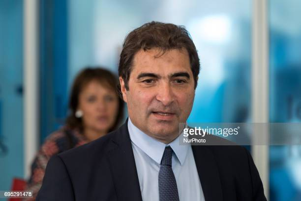 French rightwing Les Republicains party members Christian Jacob arrives at the Headquarters LR for a meeting to think about a new strategy in the...