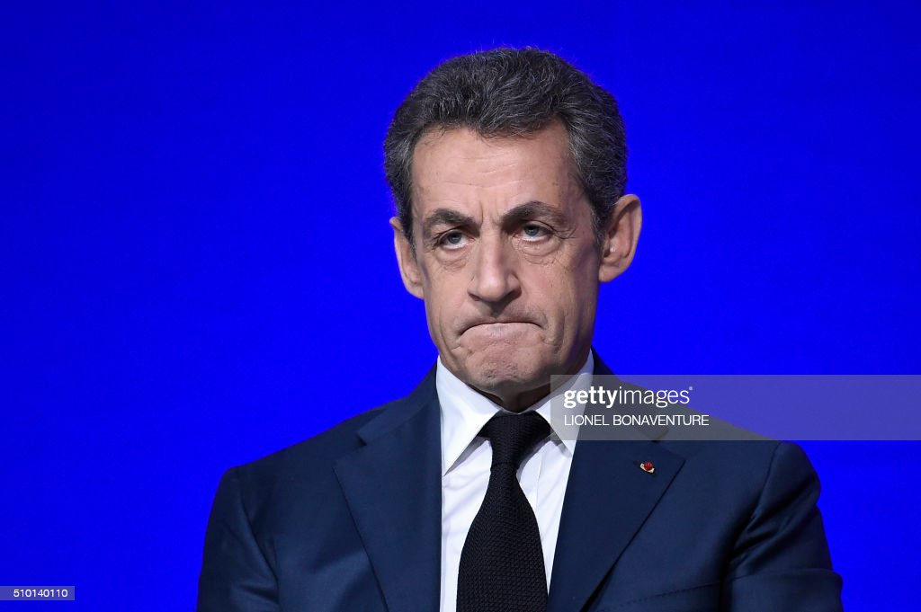 French right-wing Les Republicains (LR) party President, Nicolas Sarkozy attends the LR National Council on February 14, 2016 in Paris. AFP PHOTO / LIONEL BONAVENTURE / AFP / LIONEL BONAVENTURE