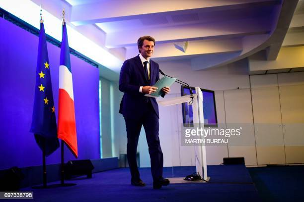 French rightwing Les Republicains party senator and head of the campaign committee of the rightwing and centre for France's legislative elections...