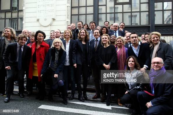 French rightwing UMP party candidate for Paris 2014 mayoral elections Nathalie KosciuskoMorizet candidate of UDI for the municipal elections...