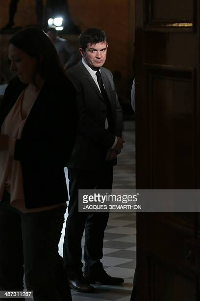 French rightwing UMP party deputy Benoist Apparu looks on as he stands in a corridor of the French national assembly in Paris on April 29 2014 AFP...