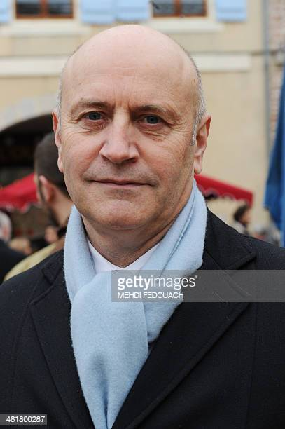 French rightwing UMP party's candidate for the 2014 mayoral election Renaud Leygue poses on January 11 2014 in VilleneuvesurLot southern France AFP...