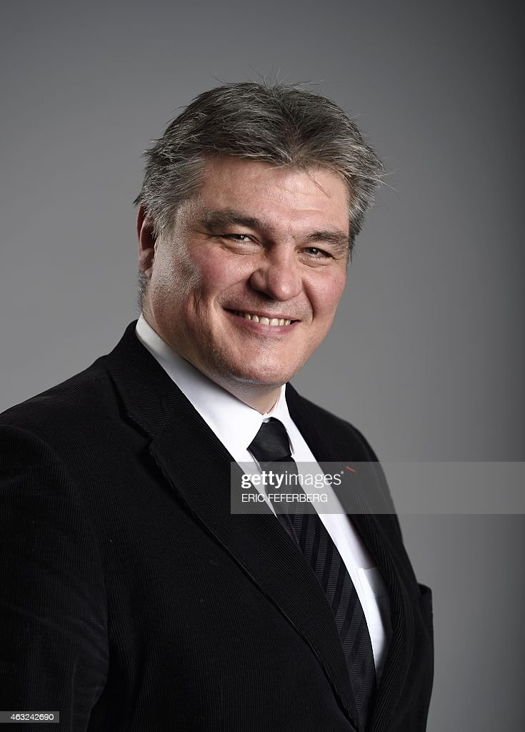 French righ-wing party UMP general delegate David Douillet poses on February 11, 2015 at the party headquarters in Paris.