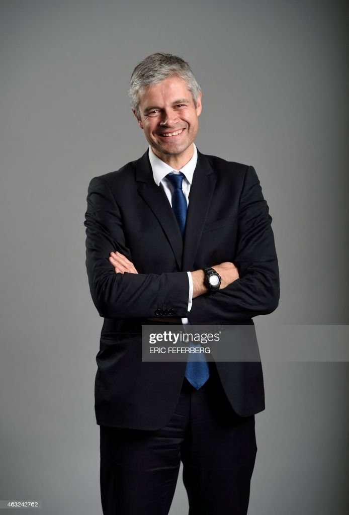 French righ-wing party UMP general secretary <a gi-track='captionPersonalityLinkClicked' href=/galleries/search?phrase=Laurent+Wauquiez&family=editorial&specificpeople=4207537 ng-click='$event.stopPropagation()'>Laurent Wauquiez</a> poses on February 11, 2015 at the party headquarters in Paris.