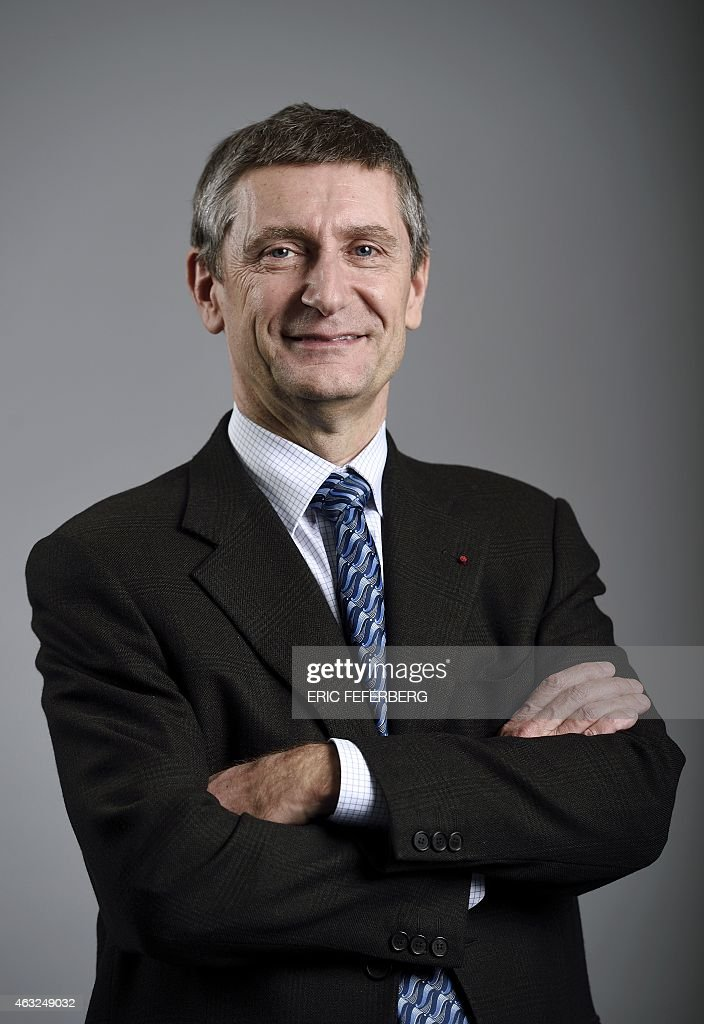 French righ-wing party UMP national secretary <a gi-track='captionPersonalityLinkClicked' href=/galleries/search?phrase=Frederic+Pechenard&family=editorial&specificpeople=4380379 ng-click='$event.stopPropagation()'>Frederic Pechenard</a> poses on February 11, 2015 at the party headquarters in Paris.