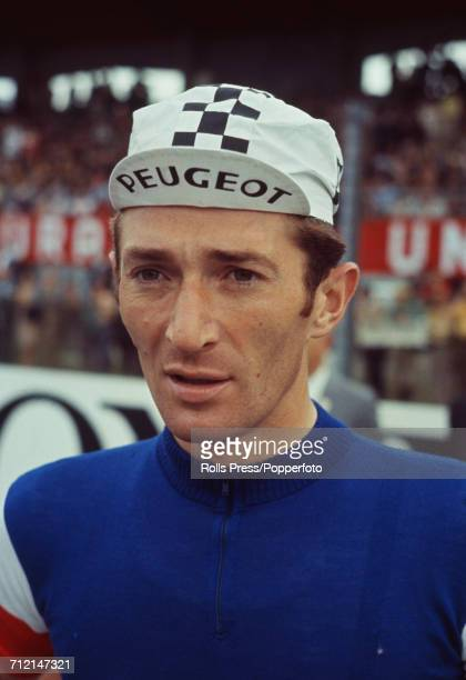 French road racing cyclist Roger Pingeon pictured during competition in the 1968 UCI Road World Championships at Imola in Italy on 1st September 1968