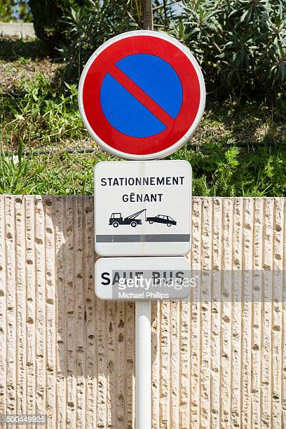 French road sign - buses only