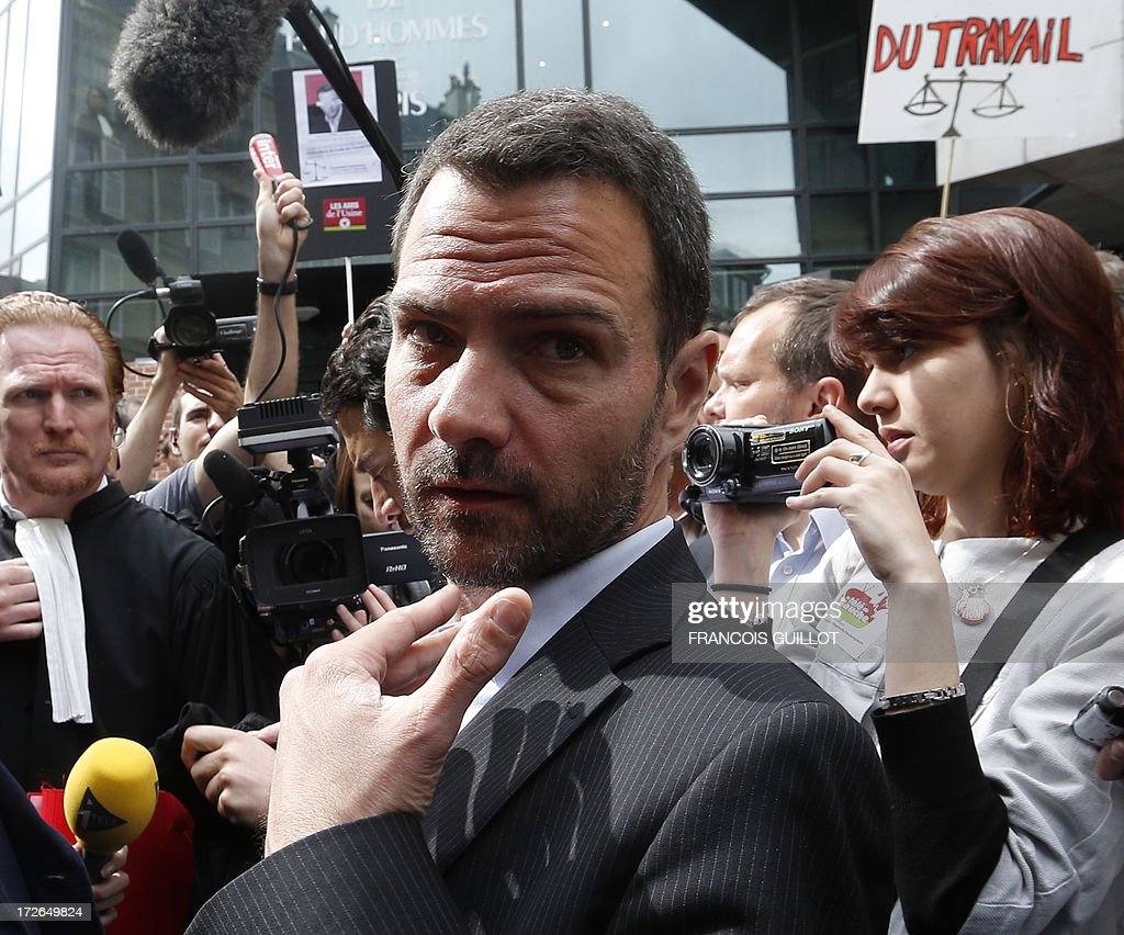 French rogue trader Jerome Kerviel arrives on July 4, 2013 in Paris, at the Prudhommes court (judicial system of relations between workers and employees). Kerviel lost last year his appeal against a three-year jail term and a 4.9-billion-euro fine for his part in France's biggest rogue-trading scandal. The 35-year-old was convicted of forgery and breach of trust for gambling away nearly five billion euros ($6.3-billion) in risky deals as a star trader at Societe Generale, one of Europe's biggest banks.