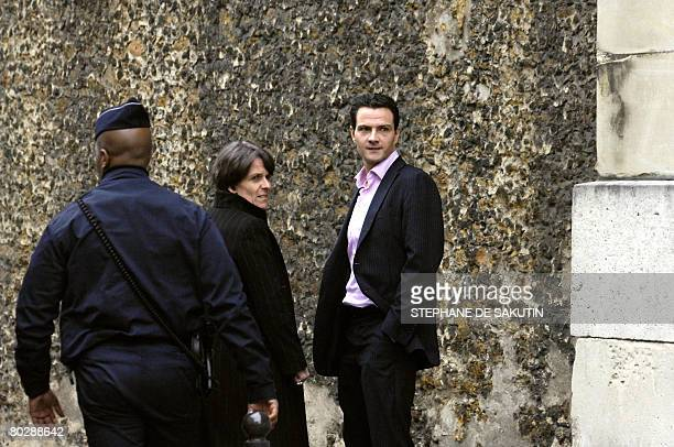 French rogue trader Jerome Kerviel leaves 'La Sante' prison with his lawyer Elisabeth Meyer on March 18 2008 in Paris after a Paris court ordered...