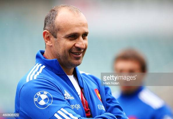French rugby coach Philippe SaintAndre during the France Captain's Run at Allianz Stadium on June 20 2014 in Sydney Australia
