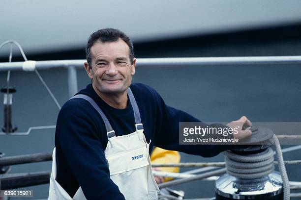 French sailor Eric Tabarly during the Route du Rhum 1982 boat race