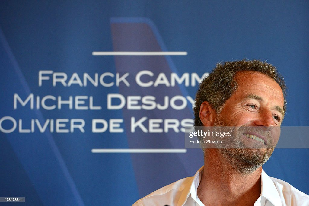 French sailor <a gi-track='captionPersonalityLinkClicked' href=/galleries/search?phrase=Michel+Desjoyeaux&family=editorial&specificpeople=546222 ng-click='$event.stopPropagation()'>Michel Desjoyeaux</a>, attends a press conference at l'Hotel de la Marine on June 25, 2015 in Paris, France. The Groupama Team France announces participation in the oldest sporting trophy in the world to be held in Bermuda in 2017, this will be the 35th edition of The America's Cup sailing competition.