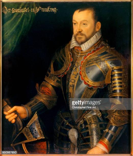 French School Portrait of Francois I second duke of Montmorency Marshal of France Oil on wood 087 x 074 m Versailles chateaux de Versailles et de...