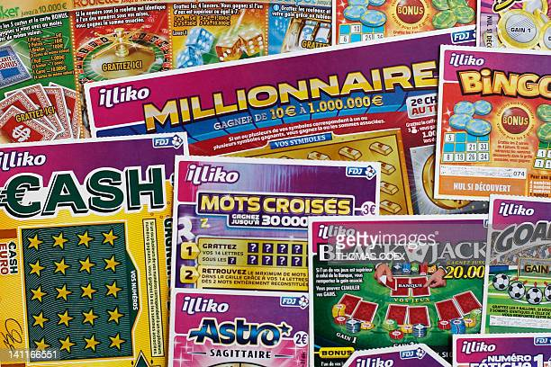 French scratchcard games are pictured on March 9 2012 in Paris Française des Jeux the operator of France's national lottery games will launch new...