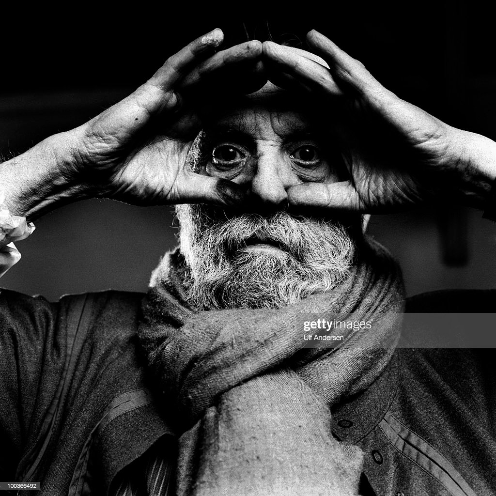 French sculptor Cesar Baldaccini (1921-1998) in his workshop during Portrait Session on January 01, 1997. Paris, France.