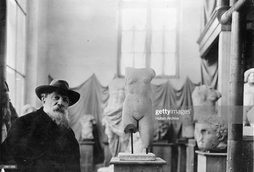 French sculptor Francois Auguste Rene Rodin in his museum at Meudon Original Publication People Disc HK0285