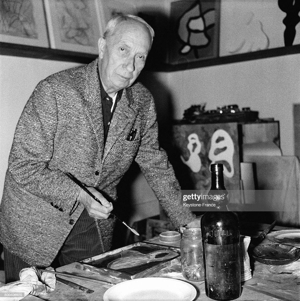 French sculptor Jean Arp in his Studio in September, 1962 in Meudon, France.