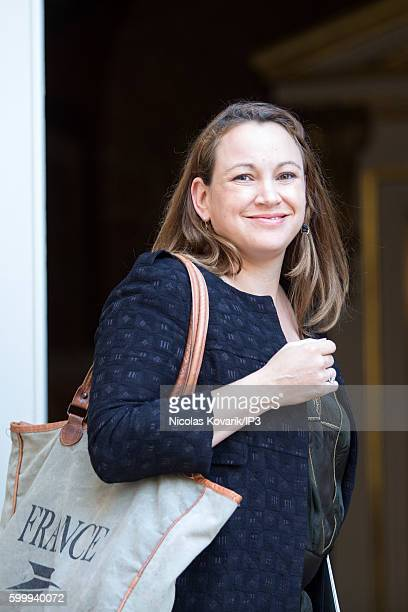 French Secretary of State at the Digital and Innovation Axelle Lemaire attends a ministerial meeting followed by lunch at Hotel Matignon on September...