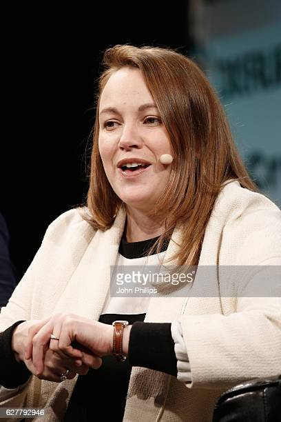French Secretary of State Axelle Lemaire attends a QA during day 1 of TechCrunch Disrupt London at the Copper Box on December 5 2016 in London England