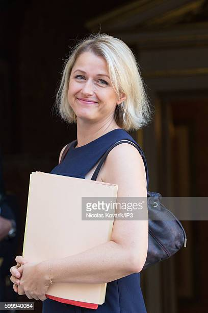 French Secretary of State for biodiversity Barbara Pompili attends a ministerial meeting followed by lunch at Hotel Matignon on September 7 2016 in...