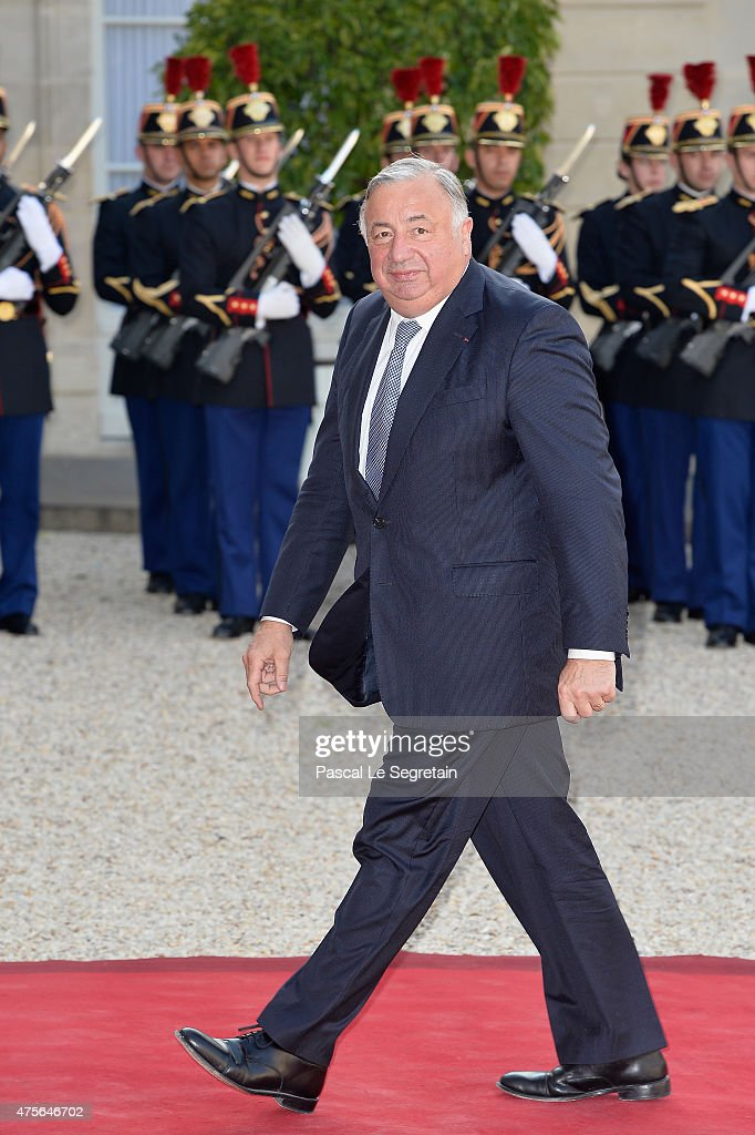 French Senate President Gerard Larcher arrives for the State Dinner offered by French President François Hollande at the Elysee Palace on June 2, 2015 in Paris, France.