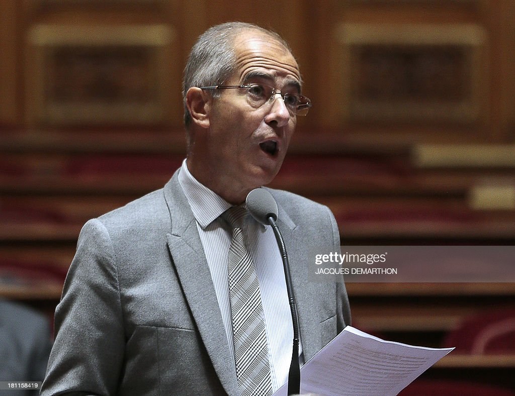 French senator (RDSE) <a gi-track='captionPersonalityLinkClicked' href=/galleries/search?phrase=Christian+Bourquin&family=editorial&specificpeople=862462 ng-click='$event.stopPropagation()'>Christian Bourquin</a> speaks during a session of questions to the government at the French Senate in Paris on September 19, 2013.