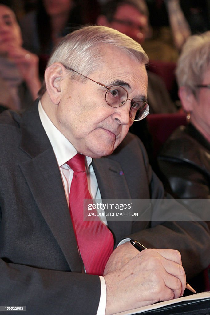French senator Michel Berson, attends a debate upon student success, on January 14, 2013, at Paris Diderot University, ahead of French government's draft law on higher education and research.