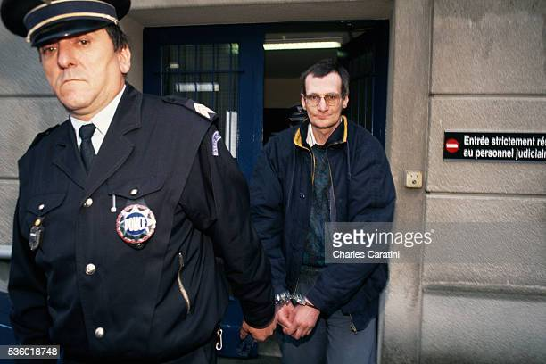 French serial killer Francis Heaulme at the courthouse in Quimper