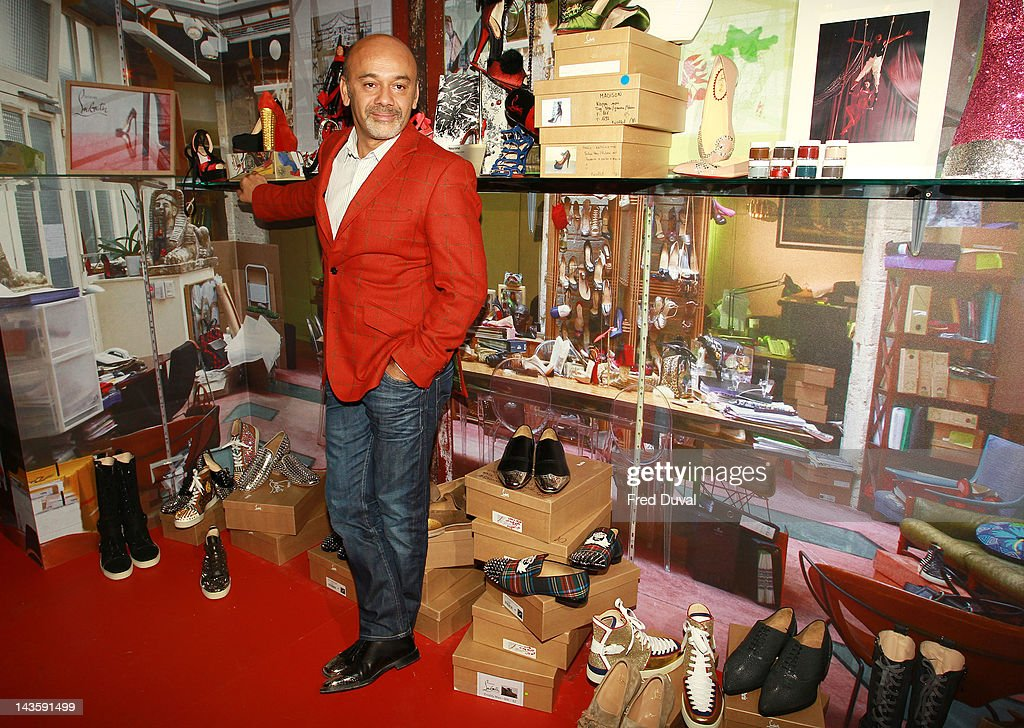 French shoe designer <a gi-track='captionPersonalityLinkClicked' href=/galleries/search?phrase=Christian+Louboutin+-+Fashion+Designer&family=editorial&specificpeople=4644509 ng-click='$event.stopPropagation()'>Christian Louboutin</a> attends a preview of an exhibition celebrating 20 years of <a gi-track='captionPersonalityLinkClicked' href=/galleries/search?phrase=Christian+Louboutin+-+Fashion+Designer&family=editorial&specificpeople=4644509 ng-click='$event.stopPropagation()'>Christian Louboutin</a> designs at the Design Museum on April 30, 2012 in London, England.