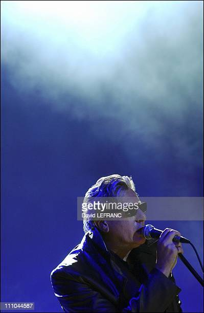 French singer Alain Bashung in Carhaix France on July 23 2004