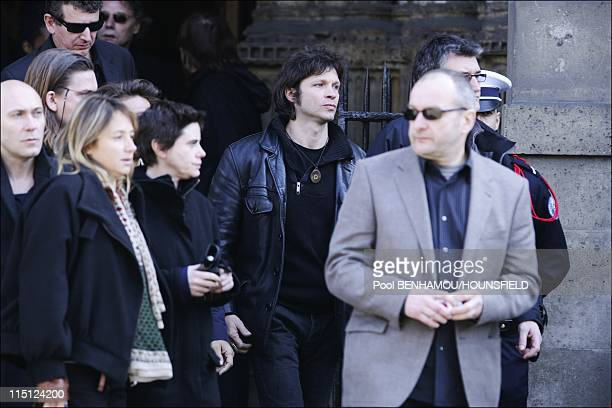 French singer Alain Bashung's funeral ceremony at Eglise SaintGermaindesPres in Paris France on March 20 2009 Bertrand Cantat