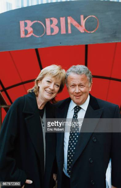 French singer Alice Dona stands with talk show host Philippe Bouvard outside the Bobino music hall in Paris Dona took over for Bouvard as the...