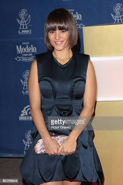 French singer Alizée attends the red carpet for Lunas del Auditorio at Auditorio Nacional on October 29 2008 in Mexico City Mexico
