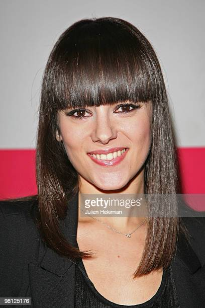 French singer Alizee meets fans at the Virgin Megastore on March 29 2010 in Paris France