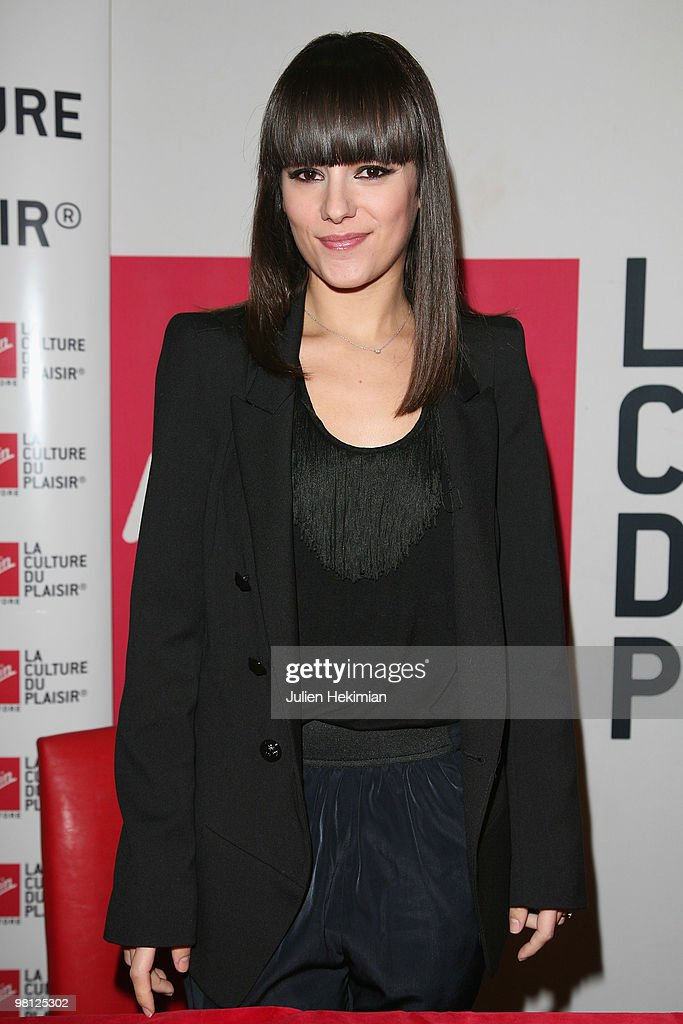 French singer Alizee meets fans at the Virgin Megastore on March 29, 2010 in Paris, France.