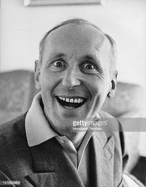 French singer and actor Bourvil making faces 1959