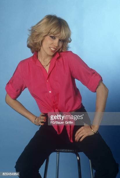 French singer and actress Amanda Lear at a photo shoot at the Baur au Lac Hotel on the shores of Lake Zurich on October 28 1979 in Zurich Switzerland...