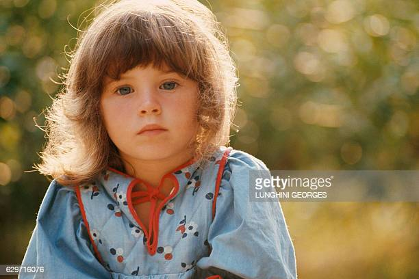 French singer and actress Elsa Lunghini aged 3