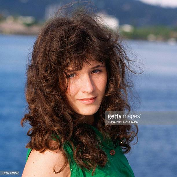 French Singer and Actress Elsa Lunghini in Tahiti