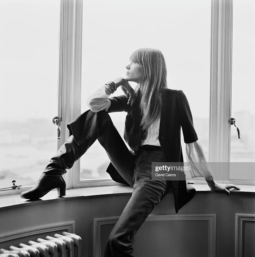 French singer and actress Françoise Hardy, 17th June 1969.