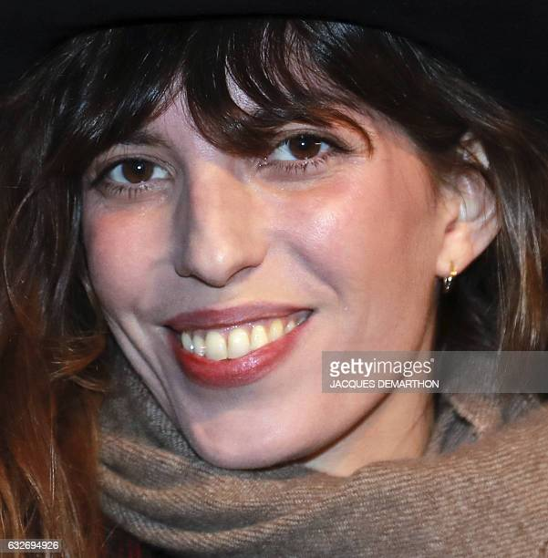 French singer and actress Lou Doillon poses as she arrives at the Cinematheque Francaise for the opening of an exhibition dedicated to the work of...